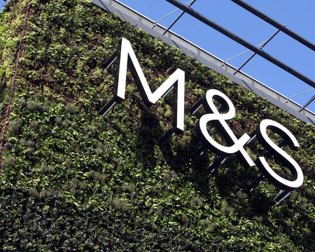 Green wall at M&S