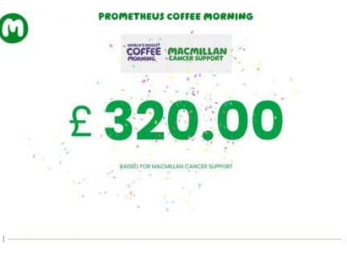 Macmillan Coffee Morning – What We Raised